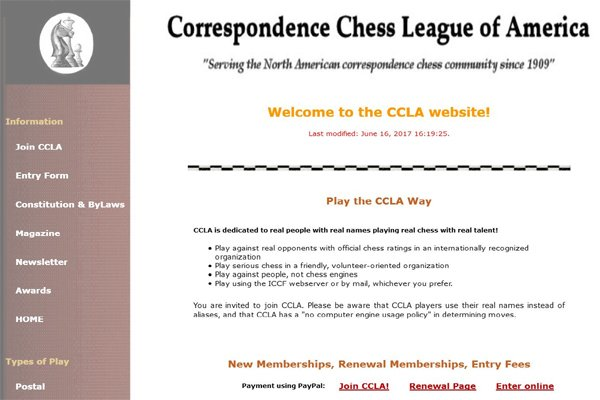 Chessbymail Homepage