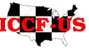 The ICCF-US logo appears on The Friendly Post, a publication devoted to arranging matches between USA and other countries