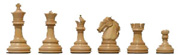 Official Staunton pattern chess pieces pictured on Serverchess.com/How to Play Chess